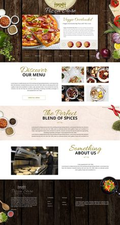 Web Design / food, restaurant, layout, concept, web design, Indian - Restaurant Hotel Coffee Bar Website #web #design #restaurant, This my restaurant website concept design. Another organic food visual style and website design concept for Indian restaurant, Italian Pizzeria by webkuti.in. Modern and minimalistic design. Straight forward design featuring classic white with a bright pop of color. restaurant website.