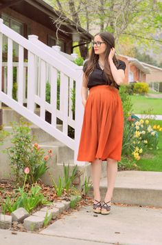 i need a long skirt that will fit over my bump!