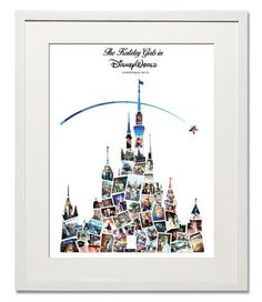 Magical Disney Castle Photo Collage - Treasure on the Wall - 1