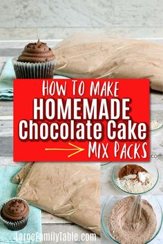 How to Make Homemade Chocolate Cake Mix Packs!