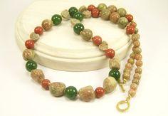 Gemstone Beaded Strand Necklace Gemstone Jewelry by BobblesByCarol, $27.00