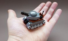 Your bricks will travel wherever they want in this little tank [Instructions]