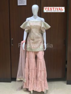 Desginer Gararra in light pink colour only at FESTIVAL LALGATE SURAT  The House of Saree, Chaniya choli, Dress, Gown, Indo-western, Unstitch maternal etc. For Live Video shopping / whatsapp / FaceTime call +91 8469977360  #dresses #fashion #dress #style #onlineshopping #fashionista #fashionblogger #ootd #love #instafashion #shopping #clothes #wedding #women #beauty #moda #designer #summer #beautiful #shoes #clothing #womensfashion #weddingdress #outfit #trending Choli Dress, Light Pink Color, Beautiful Shoes, Fashion Outfits, Womens Fashion, Video Sh, Saree, Gowns, Wedding Dresses