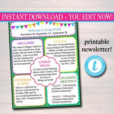 Monthly Newsletter Templates  Newsletter Templates
