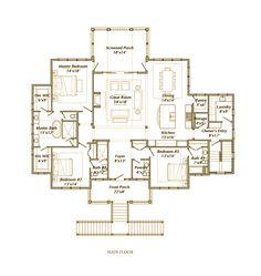 palmettobluff-com-sample-floorplan-davenport-aspx - Montage Palmetto Bluff Ranch House Plans, Best House Plans, Dream House Plans, House Floor Plans, Simple Floor Plans, Home Design Floor Plans, Build My Own House, Building A House, Street House