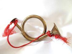 BythewaysideXmas Vintage Christmas Ornaments and Decor by BythewaysideXmas Brass Patina, French Horn, Vintage Christmas Ornaments, Letter Art, Horns, Hunting, Etsy Seller, Handmade Gifts, Holiday