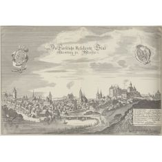 Altenburg, Schloss, Rathaus, Kirchen, St. Nicolaus Turm, Thüringen, Kupferstich, Merian, Fototapete