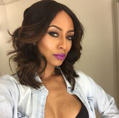 European Synthetic Hair Lace Frontal Wigs Heat Friendly Long Wave Bob Full Wig t Natural Hair Styles, Short Hair Styles, Bob Styles, Natural Beauty, Keri Hilson, Grunge Hair, Brazilian Hair, Weave Hairstyles, Dope Hairstyles