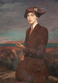 Portrait of a Lady by Robert Sivell (Scottish 1888-1958)