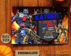 Transformatoren / Transformers uitnodiging / Transformers verjaardagsuitnodiging / Transformers verjaardag / Transformers verjaardagsuitnodiging