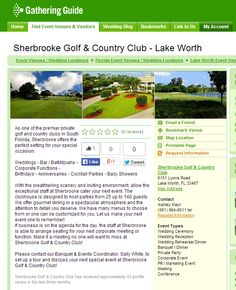 Happy #WelcomeWednesday! Still looking for the perfect wedding location? Our newest members at Sherbrooke Golf & CC have it! Visit http://www.gatheringguide.com/vis_loc.aspx?lid=12637 #weddinglocation #weddingvenues