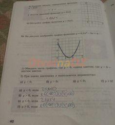 ГДЗ 40 - Алгебра 9 класс рабочая тетрадь Минаева. Часть 1.