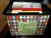 Family home evening organization