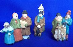 Dept 56 Dickens Carolers 3 Piece Set White Post Retired Village In Box   #Dept56