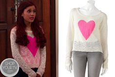 Shop Your Tv: Sam & Cat: Season 1 Episode 5 Cat's Heart Print Sweater