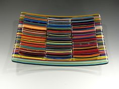 Fused and Slumped Glass Seder Dish designed for the Jewish Museum Gift Shop in New York City. BEAUTIFUL!