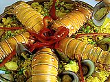 Paella.  This is a pretty authentic Cuban-style version of the classic Spanish dish.
