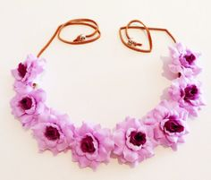 Violet Rose Bud Crown/Headband/Coachella Inspired/Festivals/Parties/Gift for Her $12