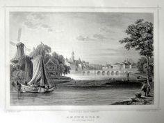 Amsterdam-de Leydsche Poort | Herkomst : J.L. Terwen - Het Koningrijk der Nederlanden, afm. 14 x 20 cm Staalgravure 1860