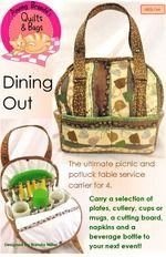 Click to Enlarge! Handbag Patterns, Bag Patterns To Sew, Quilt Patterns, Sewing Patterns, Picnic Decorations, Picnic Bag, Sewing Studio, Quilted Bag, Fabric Crafts