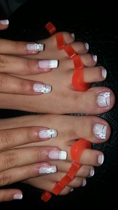 by staci - - Pedicure Nail Designs, Manicure E Pedicure, Toe Nail Designs, Pedicures, Cute Toe Nails, Toe Nail Art, Pretty Nails, Nail Nail, French Nails