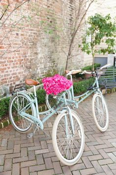Bikes and flowers - Mint bike - My Style Vita @mystylevita