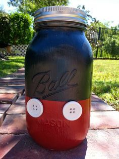 DIY Mickey Mouse Disney Fund Jar.  Have one for each kid.  Gift shop money!!!