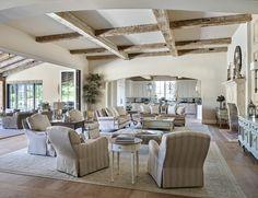 Rustic interior floor plan. Rustic interiors with open floor plan. Rustic…