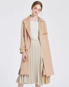 #AdoreWe #VIPme (VIPSHOP Global) Womens - TAMMY TANGS Light Brown Silt Loose Long Sleeve Plain Cardigan - AdoreWe.com