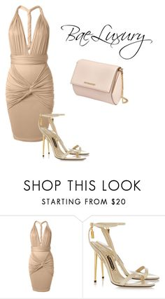 """""""NUDE OOTD #015"""" by baeluxury ❤ liked on Polyvore featuring Tom Ford and Givenchy"""