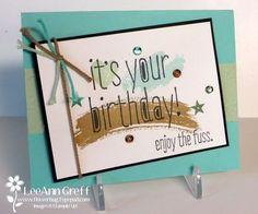 Work of Art & Big News easy Birthday card from Flowerbug's Inkspot