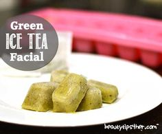 Korean actresses swear by rubbing ice cubes on their face to achieve that beautiful radiant glow. So why not make it better by adding green tea and vitamin E?! This will help reduce morning facial swelling and help constrict large pores without using chemical toners.