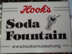 """Soda Fountain Sign for Hook's Drugs  Indiana State Fair """"2012"""""""