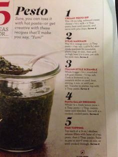 5 uses for pesto