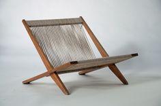Poul Kjaerholm and Jørgen Høj, Assembled lounge chair 1952 for Thorvald Madsen Snedkeri