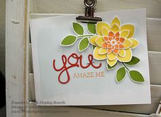 Crazy about You & Hello You Thinlits samples from Stampin' Up! Founder's Circle shared by Dawn Olchefske #dostamping #Occasions2015