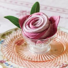 A Napkin Rosette How-To