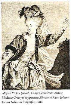 Aloysia Weber, 1784. Kirjasta Wolfgang Amadeus Mozart ; Kuvaelämänkerta. Max Becker, Stefan Schickhaus, 2005. Tammi. Sivu 82.