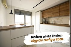 #atypicalconfiguration #kitchenconfiguration #atypicalkitchen #woodaccents #kitchen #modernkitchen #kitchendesign #kitchenfurniture #kitchenideas #whitekitchen #KUXAstudio #KUXA #KUXAkitchen #bucatariemoderna Wood Accents, Minimalist Kitchen, Kitchen Design, Kitchen Cabinets, Furniture, Studio, Home Decor, Kitchens, Minimalistic Kitchen