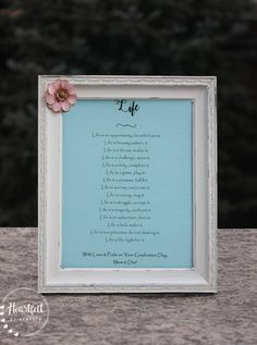 Graduation Gift Mother Teresa Quote Poem About Life High