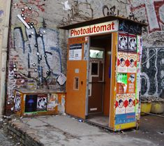 Berlin's Photoautomat-- photo booths scattered throughout Berlin