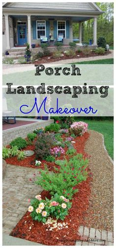We did a makeover on our front porch landscaping. Both of us like it so much better than what the contractor put in. See it here: http://www.front-porch-ideas-and-more.com/front-lawn-landscaping-ideas.html