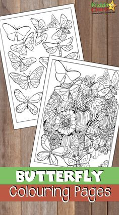 butterfly coloring pages for adults AND kids to do together. Go check them out and have a chill down with the kids now! Easy Coloring Pages, Coloring Pages For Girls, Printable Coloring Pages, Coloring For Kids, Coloring Books, Coloring Sheets, Butterfly Kids, Butterfly Crafts, Activities For Kids