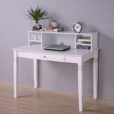 $219 Home Loft Concept Elegant Writing Desk with Hutch