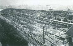 Construction of Abando Indalecio Prieto train station, Bilbao 1.948