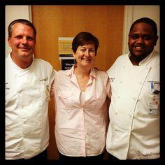 Meet Chef Otis Sims who unanimously won this year's Tom Tom Iron Chef w/his pork loin w/honey-thyme glaze. Sublime!