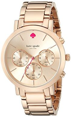kate spade new york Women's 1YRU0716 Gramercy Grand Rose Gold-Tone Bracelet Watch -