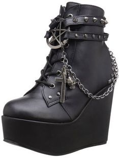 The Violet Vixen - Darkly Charmed Platform Ankle Boots , $108.00 (http://thevioletvixen.com/shoes/darkly-charmed-platform-ankle-boots/)
