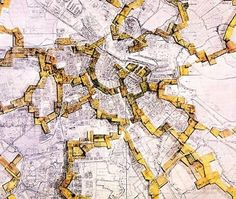 The Situationist maps, including Guy Debord's Naked City, present the most radical departure from the grid. In reaction to the rational city models embraced by Parisian postwar planners in the 1950s, he and his colleagues co-opted the map of Paris, reconfiguring the experience of the city through its authority.