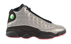 Nike Men's Air Jordan 13 Retro Premium Reflective Silver / Infrared Black Basketball Shoe